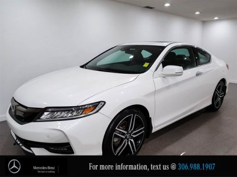 Pre-Owned 2016 Honda Accord Coupe Touring, Leather Heated Seats Bluetooth CAM NAV