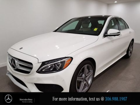 Certified Pre-Owned 2018 Mercedes-Benz C-Class C 300 Locally Owned 360 CAM