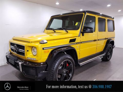 Certified Pre-Owned 2015 Mercedes-Benz G-Class G 63 AMG Solar Beam Yellow Designo Leather