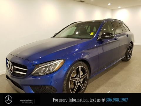 Certified Pre-Owned 2018 Mercedes-Benz C-Class C 300 Locally Owned Heated Black Leather Seats CAM NAV
